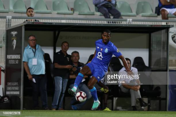 Porto defender Saidy Janko from Switzerland in action during the PreSeason Friendly match between Portimonense SC and FC Porto at Estadio Municipal...