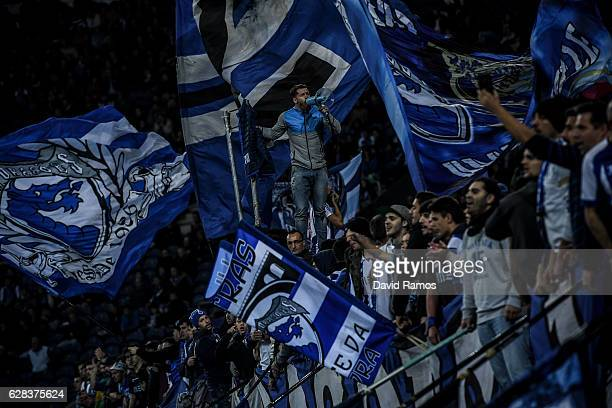 Porto fans cheer on their team during the UEFA Champions League match between FC Porto and Leicester City FC at Estadio do Dragao on December 7 2016...