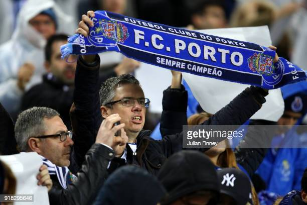 Porto fans during the UEFA Champions League Round of 16 First Leg match between FC Porto and Liverpool at Estadio do Dragao on February 14 2018 in...
