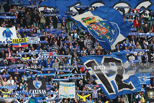 Porto fans soak up the atmosphere ahead of the UEFA Europa League Final between FC Porto and SC Braga at Dublin Arena on May 18 2011 in Dublin Ireland