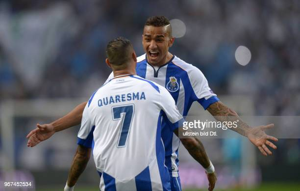 Porto FC Bayern Muenchen Ricardo Quaresma und Danilo jubeln