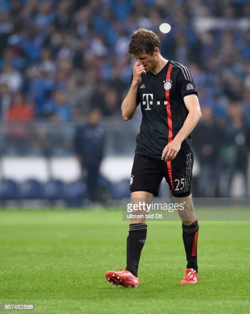 Porto FC Bayern Muenchen Thomas Mueller ist nach dem Abpfiff enttaeuscht
