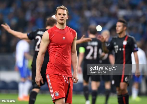 Porto FC Bayern Muenchen Torwart Manuel Neuer ist nach dem Abpfiff enttaeuscht