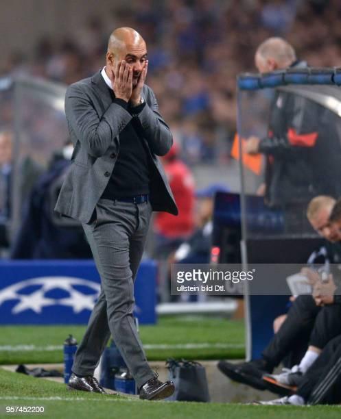 Porto FC Bayern Muenchen Trainer Pep Guardiola ist enttaeuscht