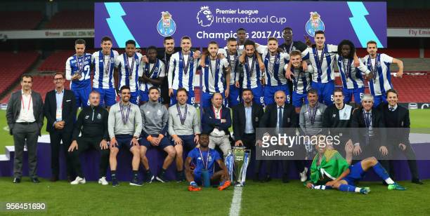 Porto FC with Premier League International Cup Trophy After Premier League International Cup Final match between Arsenal Under 23 against Porto FC at...