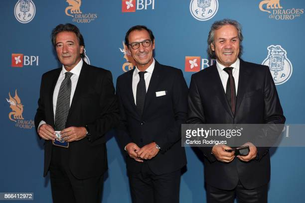 Porto former players Rodolfo Reis Fernando Gomes and Madjer attends FC Porto Gala Dragoes de Ouro 2016 2017 at Dragao Caixa on October 25 2017 in...
