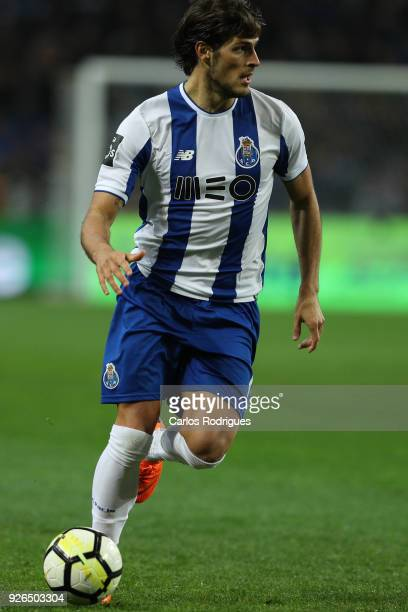 Porto forward Goncalo Paciencia from Portugal during the Portuguese Primeira Liga match between FC Porto and Sporting CP at Estadio do Dragao on...