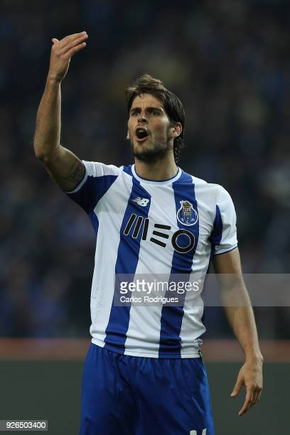 Porto forward Goncalo Paciencia from Portugal reacts during the Portuguese Primeira Liga match between FC Porto and Sporting CP at Estadio do Dragao...