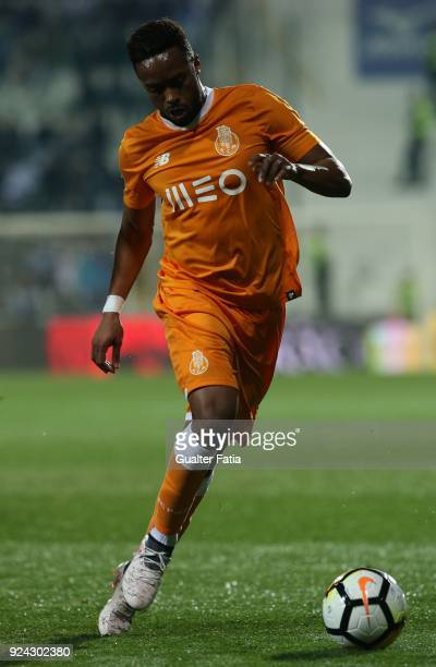 Porto forward Hernani Fortes from Portugal in action during the Portuguese Primeira Liga match between Portimonense SC and FC Porto at Estadio...