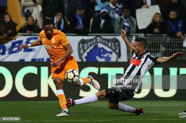 Porto forward Hernani Fortes from Portugal with Portimonense SC defender Ruben Fernandes from Portugal in action during the Portuguese Primeira Liga...