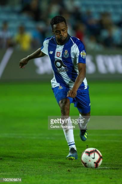 Porto forward Hernani Fortes kicks the ball during the match between FC Porto v LOSC Lille for Algarve Football Cup 2018 at Estadio do Algarve on...