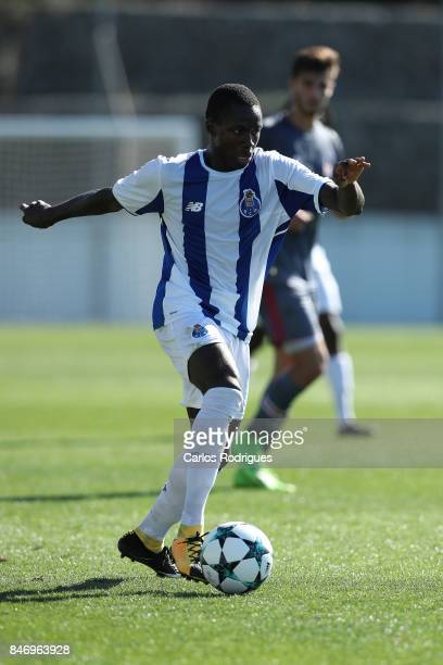 Porto forward Madi Queta from Ghana during the the UEFA Youth Champions League match between FFC Porto and Besiktas JK at Centro de Treino do Olival...