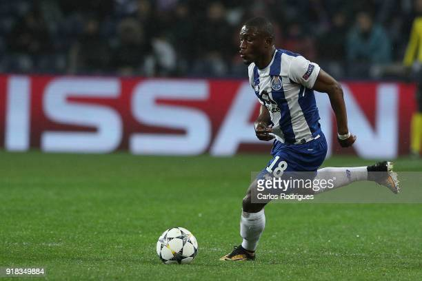 Porto forward Majeed Waris from Ghana during the UEFA Champions League Round of 16 First Leg match between FC Porto and Liverpool at Estadio do...