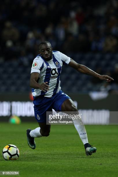 Porto forward Moussa Marega from Mali during the FC Porto v Sporting CP Taca de Portugal Semi Final Leg One at Estadio do Dragao on February 07 2018...