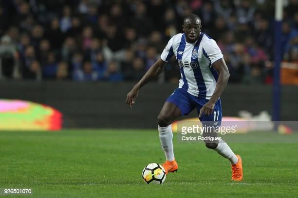 Porto forward Moussa Marega from Mali during the Portuguese Primeira Liga match between FC Porto and Sporting CP at Estadio do Dragao on March 2 2018...