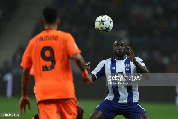 Porto forward Moussa Marega from Mali during the UEFA Champions League Round of 16 First Leg match between FC Porto and Liverpool at Estadio do...
