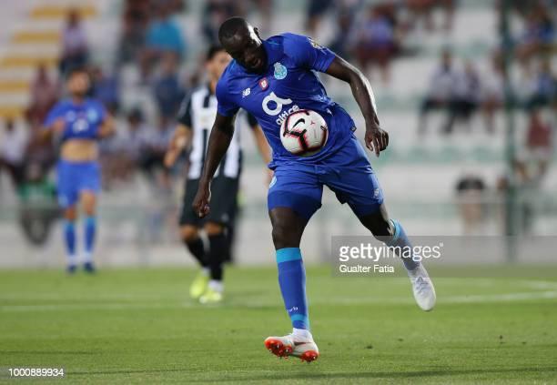 Porto forward Moussa Marega from Mali in action during the PreSeason Friendly match between Portimonense SC and FC Porto at Estadio Municipal de...