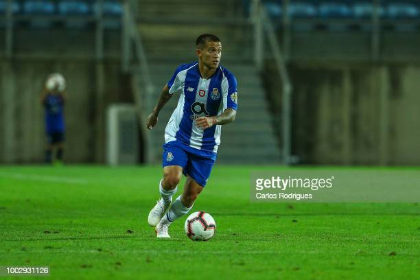 Porto forward Otavio drives the ball during the match between FC Porto v LOSC Lille for Algarve Football Cup 2018 at Estadio do Algarve on July 20,...