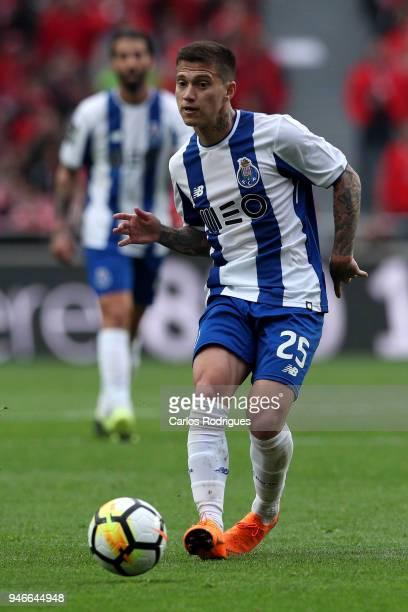 Porto forward Otavio from Brazil during the Portuguese Primeira Liga match between SL Benfica and FC Porto at Estadio da Luz on April 15 2018 in...
