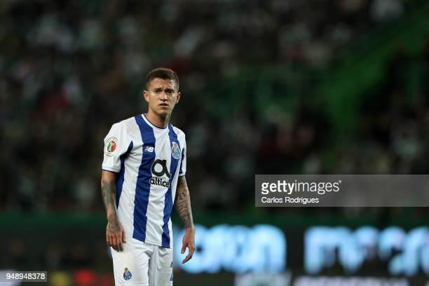 Porto forward Otavio from Brazil during the Sporting CP v FC Porto Portuguese Cup semi finals 2 leg at Estadio Jose Alvalade on April 18 2018 in...