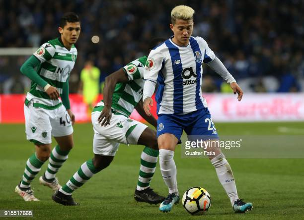 Porto forward Otavio from Brazil in action during the Portuguese Cup Semi Final Leg One match between FC Porto and Sporting CP at Estadio do Dragao...
