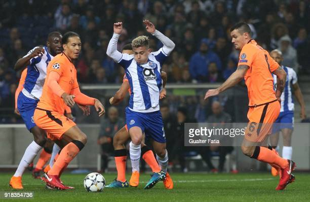 Porto forward Otavio from Brazil in action during the UEFA Champions League Round of 16 First Leg match between FC Porto and Liverpool FC at Estadio...
