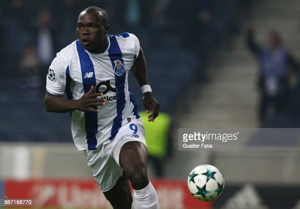Porto forward Vincent Aboubakar from Camaroes celebrates after scoring a goal during the UEFA Champions League match between FC Porto and AS Monaco...