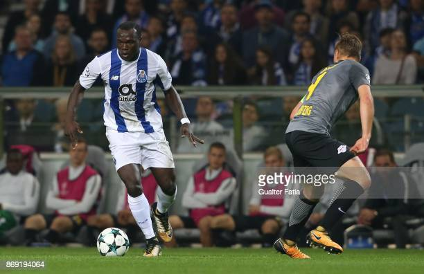 Porto forward Vincent Aboubakar from Cameroon in action during the UEFA Champions League match between FC Porto and RB Leipzig at Estadio do Dragao...