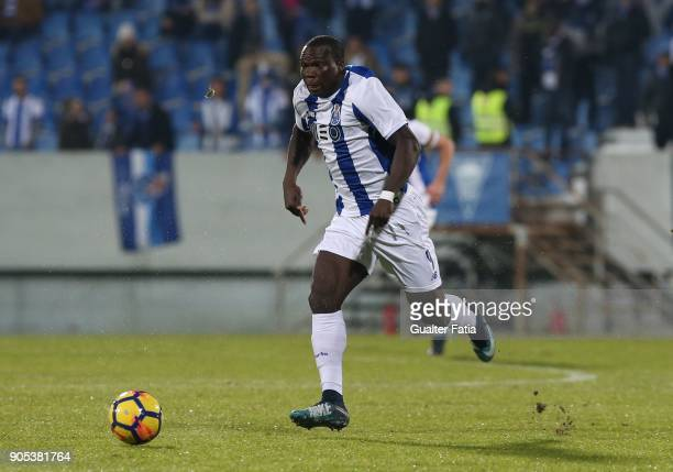 Porto forward Vincent Aboubakar from Cameroon in action during the Primeira Liga match between GD Estoril Praia and FC Porto at Estadio Antonio...