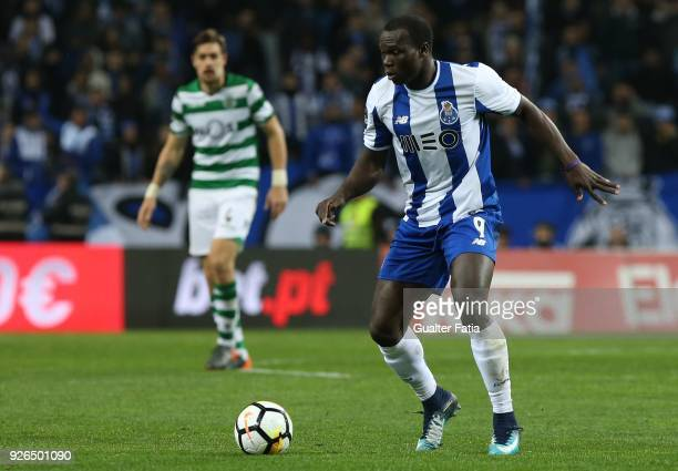 Porto forward Vincent Aboubakar from Cameroon in action during the Primeira Liga match between FC Porto and Sporting CP at Estadio do Dragao on March...