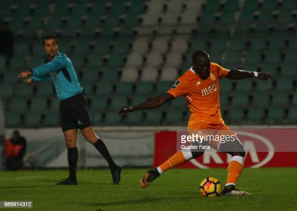 Porto forward Vincent Aboubakar from Cameroon scores goal from the penalty spot during the Primeira Liga match between Vitoria Setubal and FC Porto...