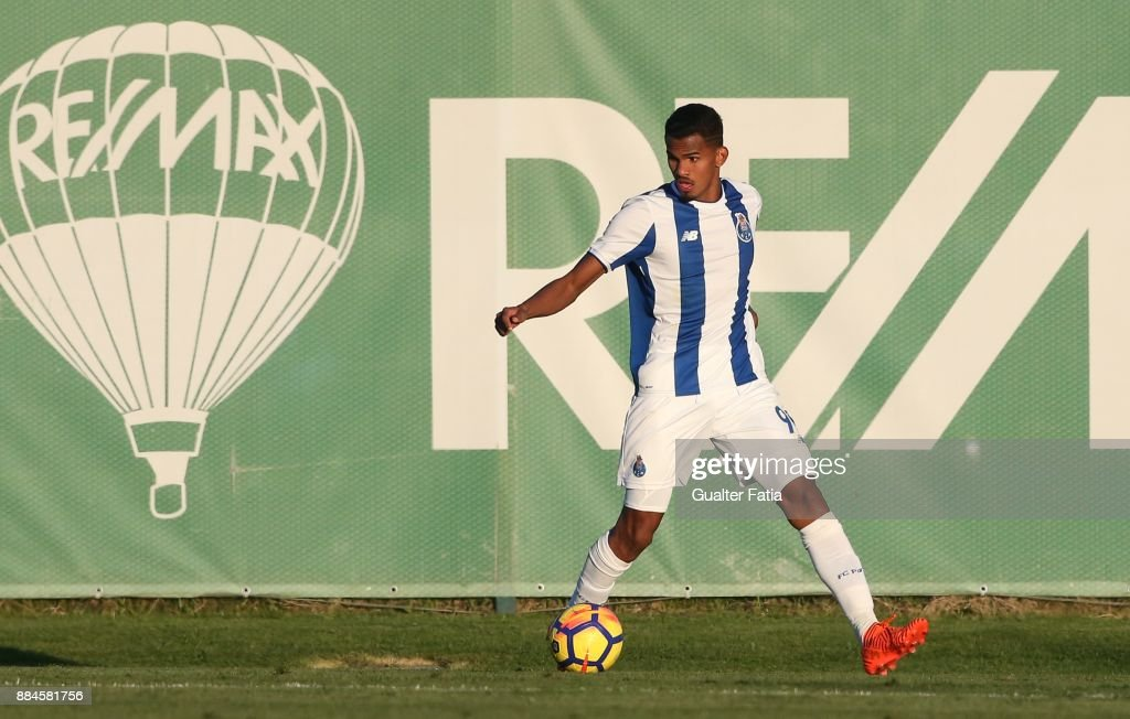 FC Porto forward Wenderson Galeno from Brazil in action during the Segunda Liga match between Sporting CP B and FC Porto B at CGD Stadium Aurelio Pereira on December 2, 2017 in Alcochete, Portugal.