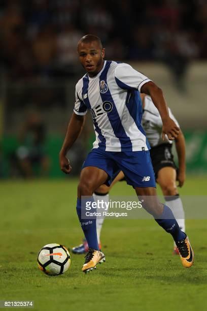 Porto forward Yacine Brahimi from Algeria during the match between Vitoria Guimaraes v FC Porto match for the Guimaraes City Trophy at Estadio da Dom...