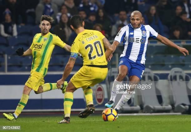 Porto forward Yacine Brahimi from Algeria in action during the Primeira Liga match between FC Porto and CD Tondela at Estadio do Dragao on January 19...