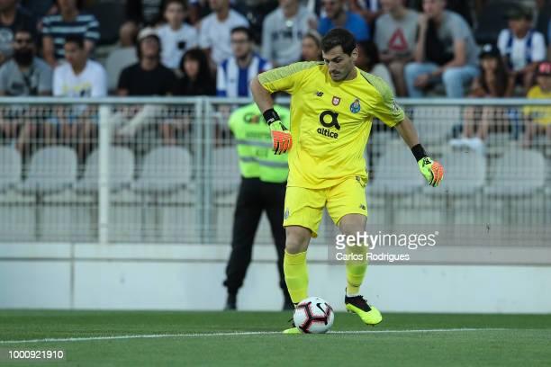 Porto goalkeeper Iker Casillas from Spain during the Portimonense SC v FC Porto PreSeason Friendly match at Estadio Municipal de Portimao on July 17...
