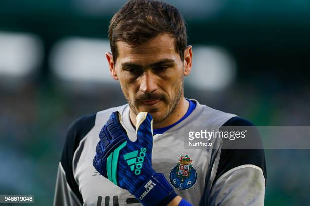 FC Porto goalkeeper Iker Casillas from Spain during the Sporting CP v FC Porto Portuguese Cup semi finals 2 leg at Estadio Jose Alvalade on April 18...