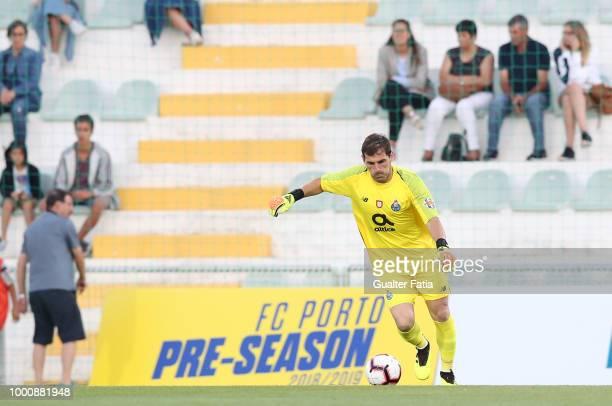 Porto goalkeeper Iker Casillas from Spain in action during the PreSeason Friendly match between Portimonense SC and FC Porto at Estadio Municipal de...