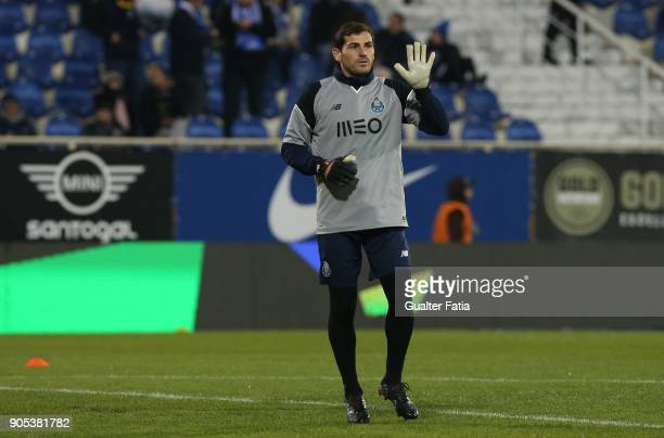 Porto goalkeeper Iker Casillas from Spain in action during warm up before the start of the Primeira Liga match between GD Estoril Praia and FC Porto...