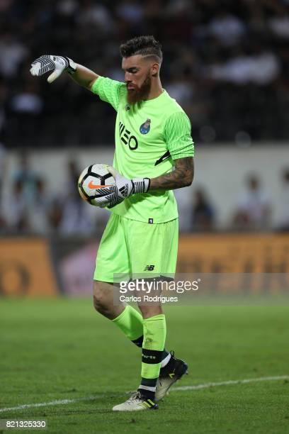 Porto goalkeeper Jose Sa from Portugal during the match between Vitoria Guimaraes v FC Porto match for the Guimaraes City Trophy at Estadio da Dom...