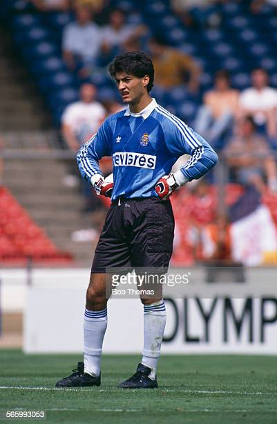 FC Porto goalkeeper Vitor Baia on the field during a Makita International Tournament match against Arsenal at Wembley Stadium London 29th July 1989...