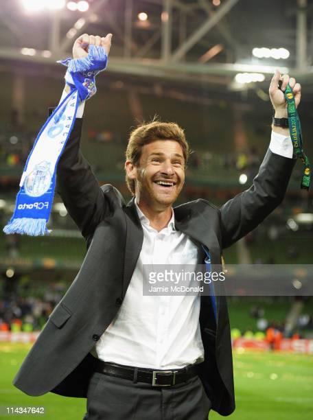 Porto Head Coach Andre Villas Boas celebrates victory during the UEFA Europa League Final between FC Porto and SC Braga at Dublin Arena on May 18...