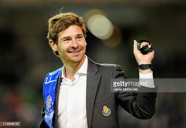 Porto Head Coach Andre Villas Boas celebrates victory during the UEFA Europa League Final between FC Porto and SC Braga at Dublin Arena on May 18...