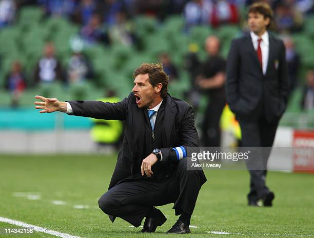 Porto Head Coach Andre Villas Boas gives instructions from the touchline during the UEFA Europa League Final between FC Porto and SC Braga at Dublin...