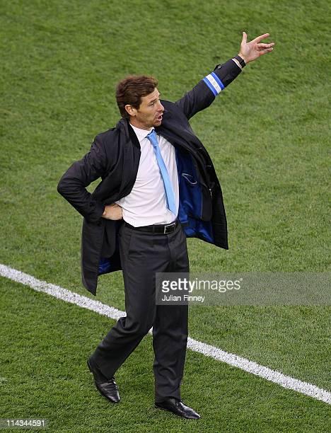 Porto Head Coach Andre Villas Boas reacts during the UEFA Europa League Final between FC Porto and SC Braga at Dublin Arena on May 18 2011 in Dublin...