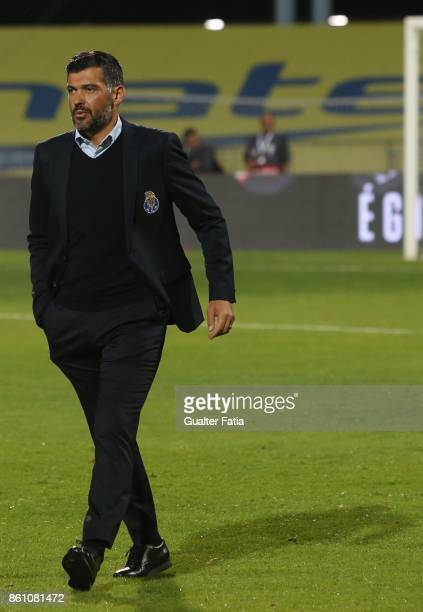 Porto head coach Sergio Conceicao from Portugal before the start of the Portuguese Cup match between Lusitano Ginasio Clube and FC Porto at Estadio...