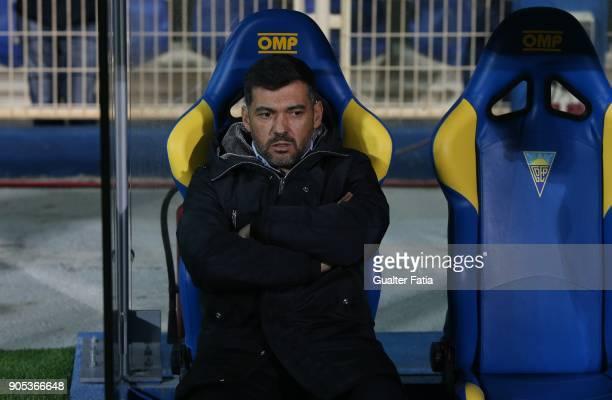 Porto head coach Sergio Conceicao from Portugal before the start of the Primeira Liga match between GD Estoril Praia and FC Porto at Estadio Antonio...