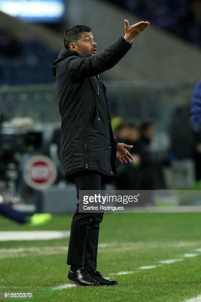Porto head coach Sergio Conceicao from Portugal during the FC Porto v Sporting CP Taca de Portugal Semi Final Leg One at Estadio do Dragao on...