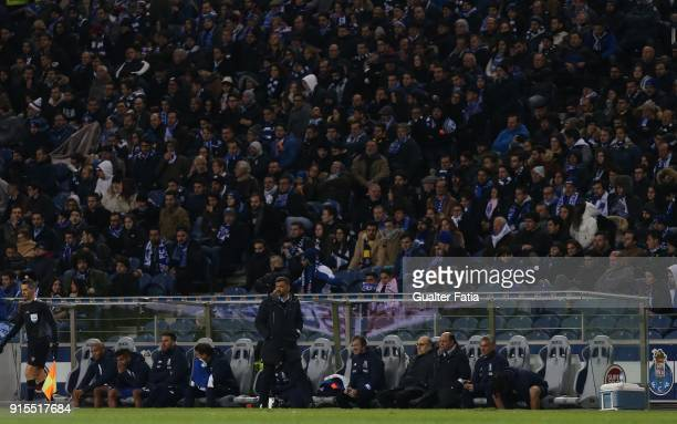 Porto head coach Sergio Conceicao from Portugal in action during the Portuguese Cup Semi Final Leg One match between FC Porto and Sporting CP at...