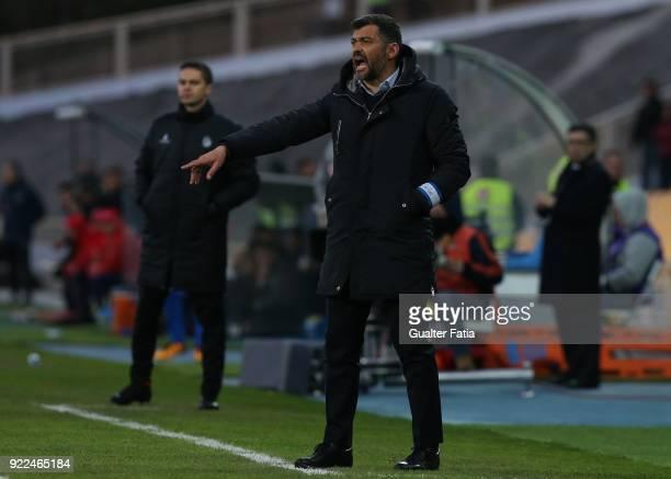 Porto head coach Sergio Conceicao from Portugal in action during the Primeira Liga match between GD Estoril Praia and FC Porto at Estadio Antonio...