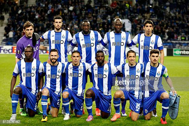 Porto initial team during the Champions League match between FC Porto and Borussia Dortmund for UEFA Europa League Round of 32 Second Leg at Estadio...